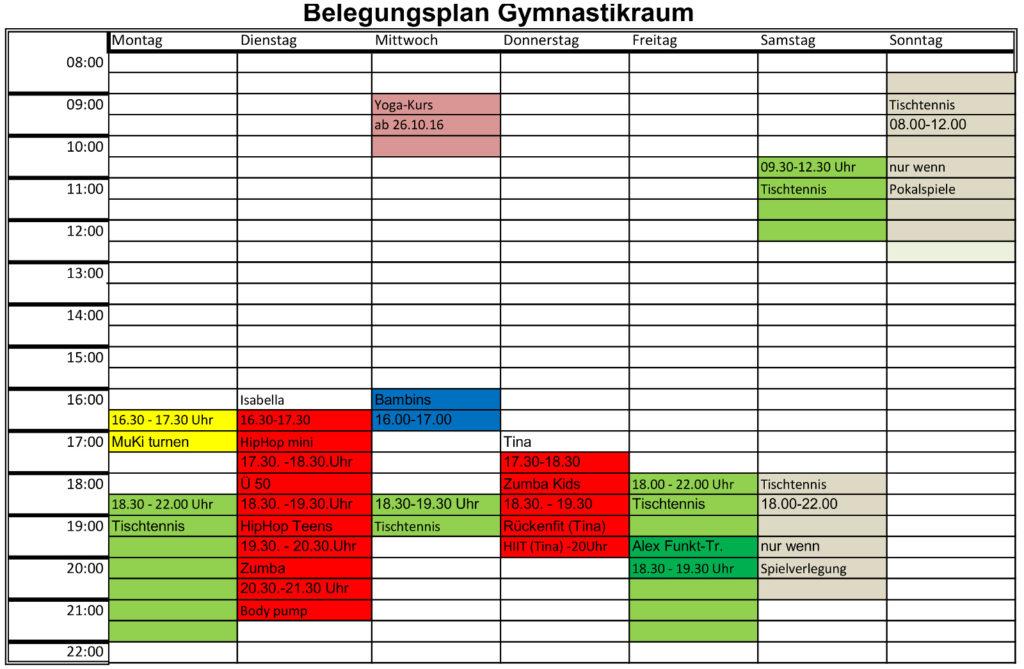 20160921_Belegungsplan Gymnastikraum
