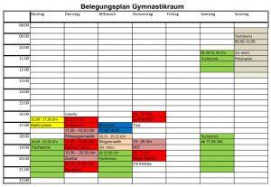 20181017_Belegungsplan Gymnastikraum