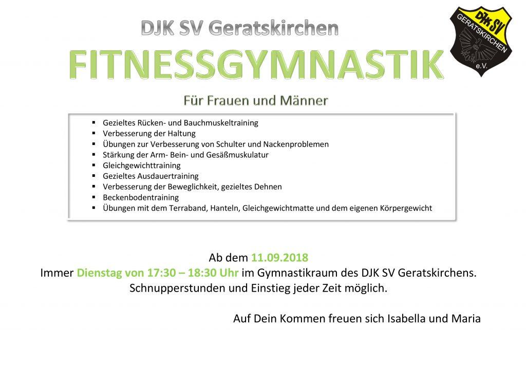 Fitnessgymnastik Vorlage